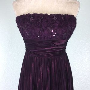 Speechless Sequin Strapless Pleated Dress 40PE